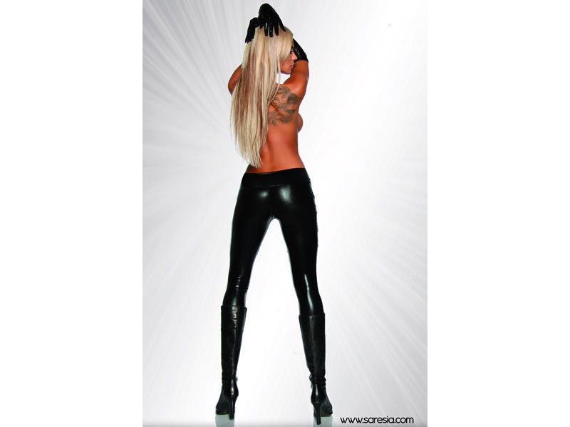 Trendy wetlook legging