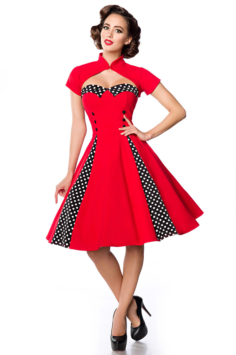 15268943fba7 50'S Rockabilly vintage dress, polkadot vintage dresses, vintage mode