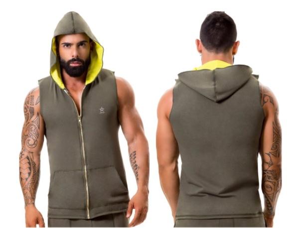 Heren Hoodie Vest.Heren Sportieve Vest Met Hoodie Van Jor Heren Sportieve Top Van Jor