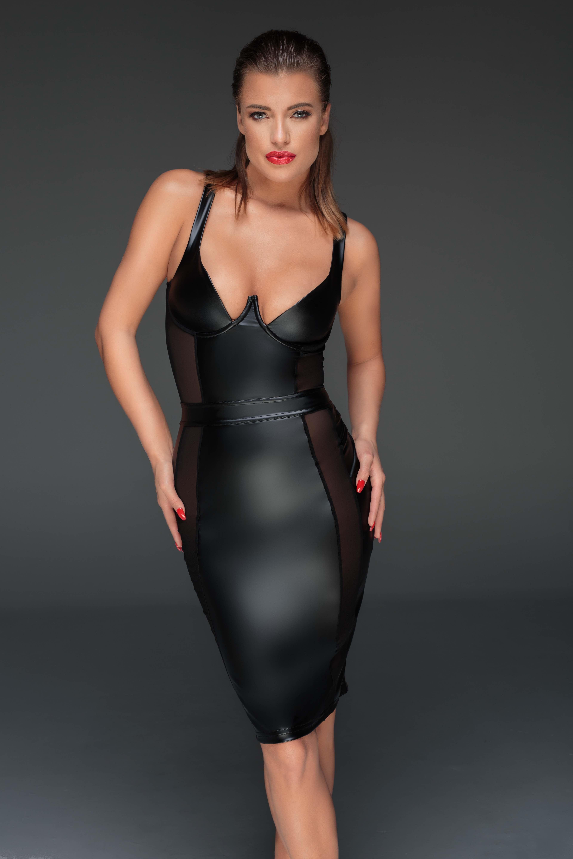 a0ab3fdee929a3 Power wetlook pencil jurk