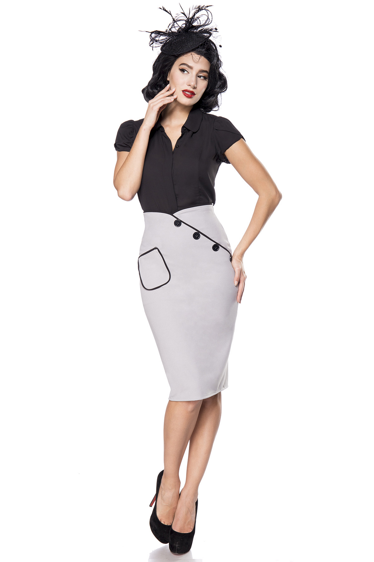93833b23a3511 Vintage pencil skirt with waistband, vintage skirts, retro skirts