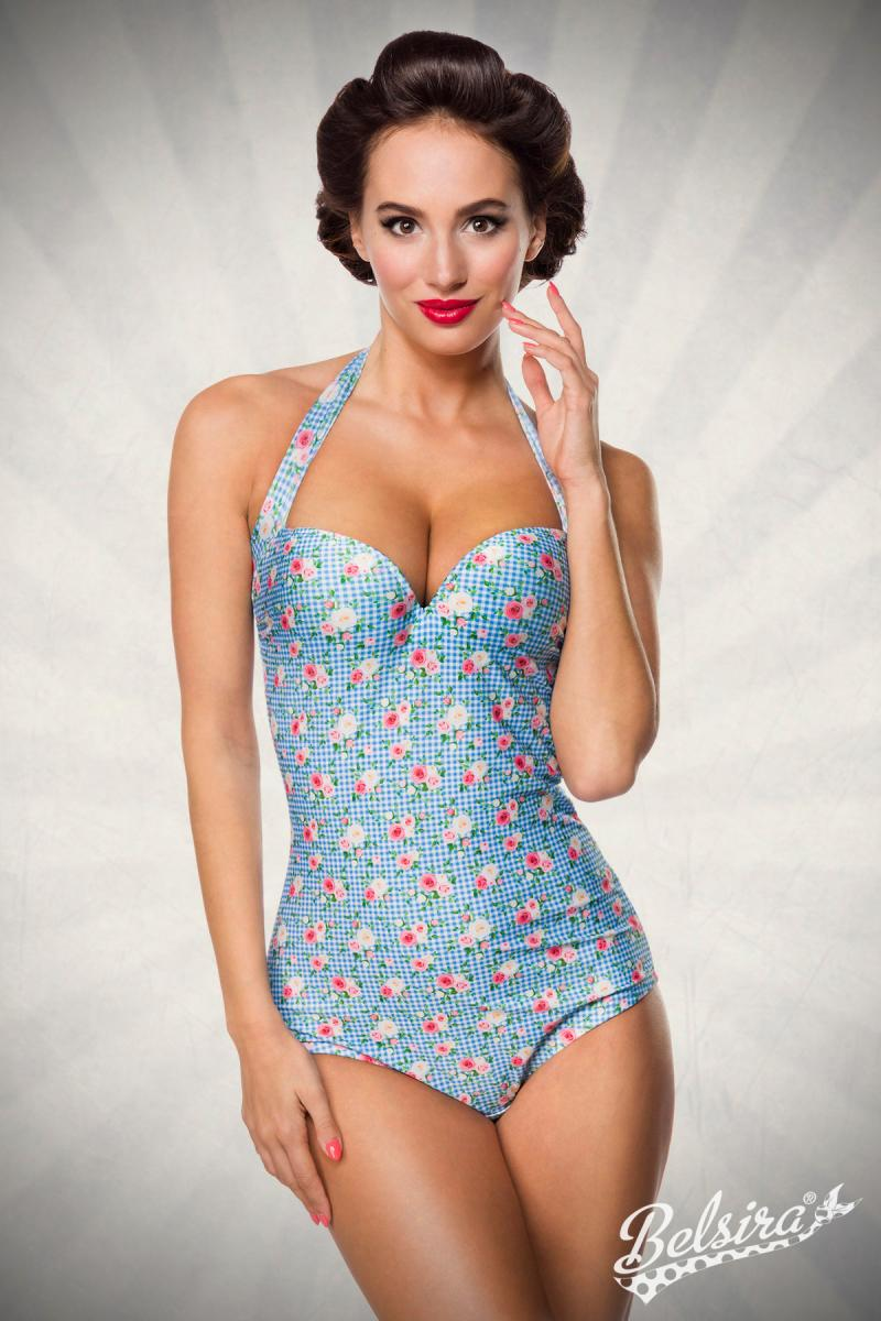 a2fdee8559511 Vintage pin-up swimsuit, vintage swimwear, retro swimsuit, retro ...