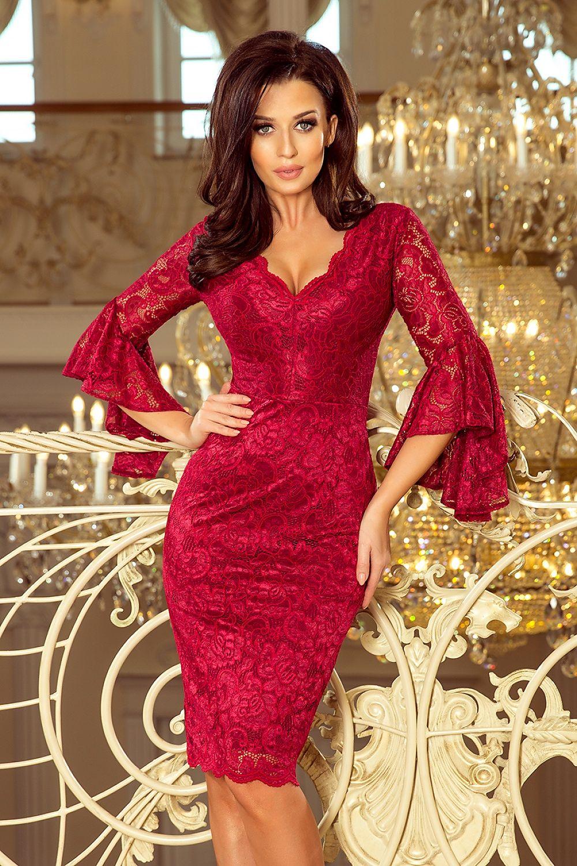 ca55ef39446 Bodycon jurkjes, mid-lengte jurkjes, sexy jurkjes, avondkleding, lange  mouwen jurken, kanten jurkje , aansluitend jurkje -Sassymania.