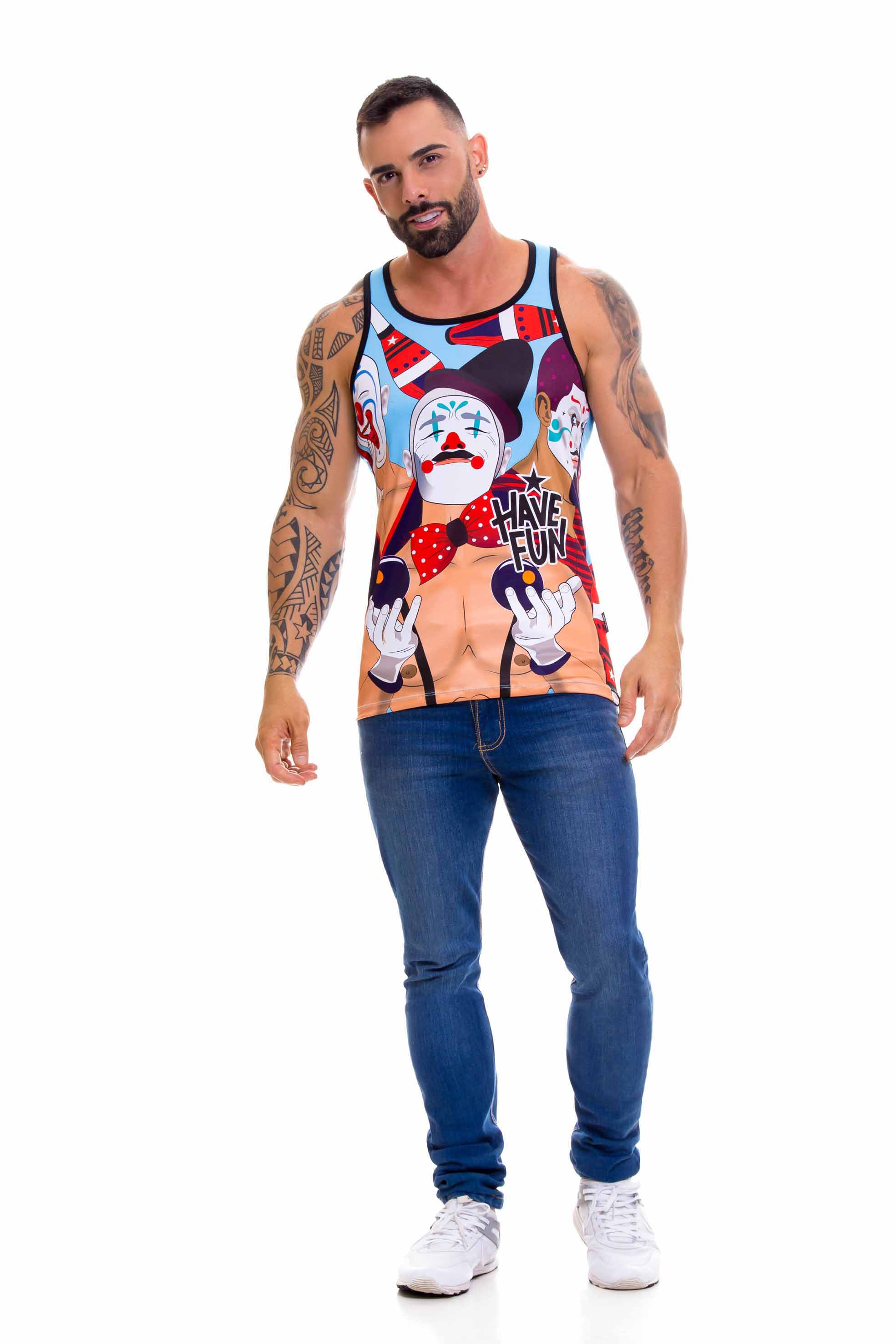 Heren Clown tank top bij JOR