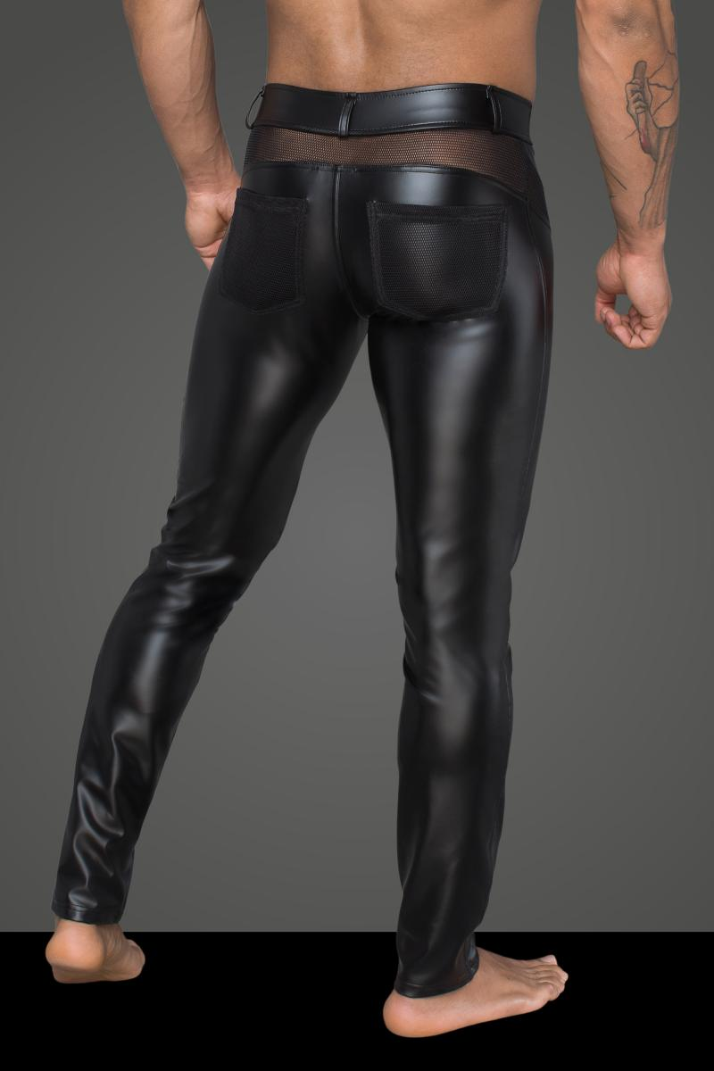 Rebellious heren powerwetlook broek