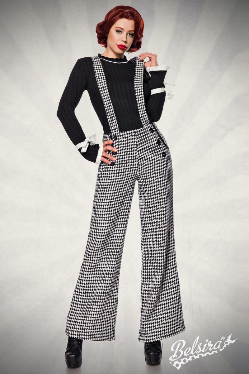 Vintage Kleding.Vintage Inspired Hoge Taille Broek Met Bretels Vintage Broeken