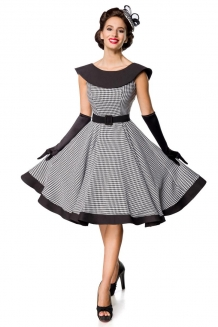 50's gingham sleeveless swing dress Angie