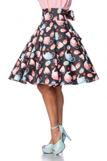 50's hoge taille swing rok Teacup
