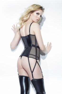 Coquette wetlook bustier