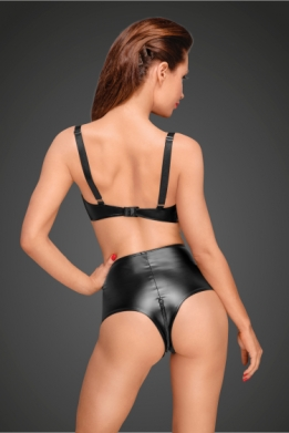 Decadence wetlook hoge taille short
