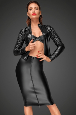 Decadence wetlook pencil skirt