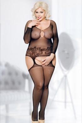 Grote maten off-shoulder bodystocking
