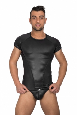 Heren wetlook T-shirt