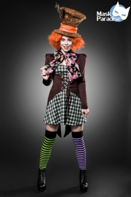Klassiek Mad Hatter dames kostuum set