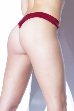 Merlot mat wetlook thong