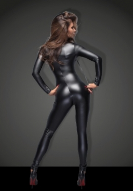 Powerwetlook catsuit van Bitch collectie Noir Handmade