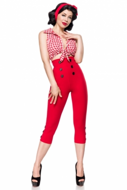 Retro 50S Capri leggings rood
