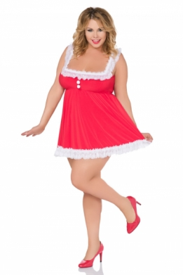 Sexy grote maten kerst babydoll