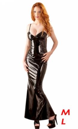 ff42d39c73dd21 Lange lak nauwsluitende jurk