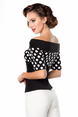 Vintage polka-dot top