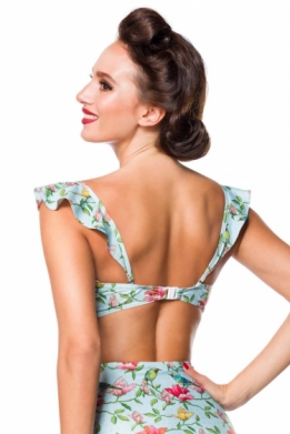 Vintage retro bikini top with bloemen pattern