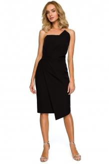 c48b994ee5088f Bandeau asymmetric bodycon dress black
