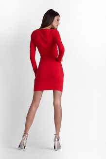 Bodycon mini overslagjurk rood