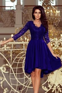 Nieuw Cocktail mullet jurk met kanten blauw, cocktailjurken online QH-98
