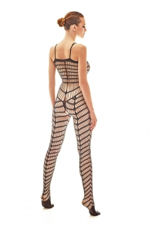 Doorschijnend bodystockings met patroon