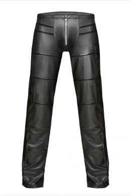 Heren wetlook broek