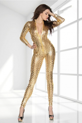 Metallic Star Overall Goud