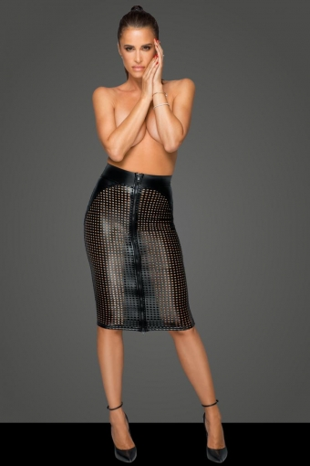 Miss behaved lasercut midi-rok