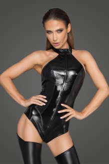Rebellious powerwetlook bodysuit