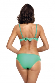 Sexy fluweel beugel push-up bikini met ruches in mint