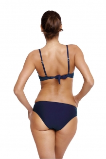 Sexy fluweel beugel push-up bikini met ruches in navy