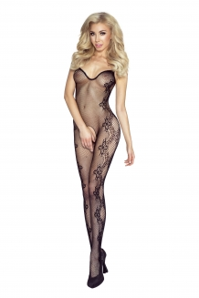 Sexy visnet bodystockings met sweatheart halslijn