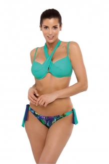 Trendy bikini in bloemenprint en groen