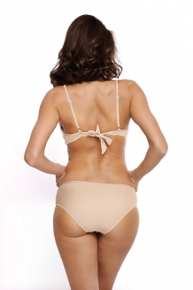 Trendy fluweel beugel push-up bikini in beige