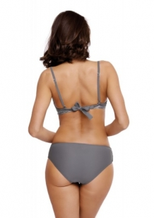 Trendy fluweel beugel push-up bikini in grijs