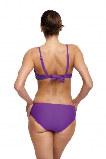 Trendy fluweel beugel push-up bikini in paars