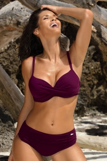 Trendy push-up beugel bikini violet